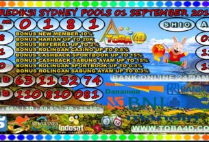 PREDIKSI SYDNEY POOLS 01 SEPTEMBER 2019