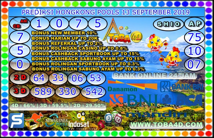 PREDIKSI HONGKONG POOLS 13 SEPTEMBER 2019