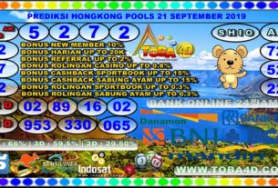 PREDIKSI HONGKONG POOLS 21 SEPTEMBER 2019
