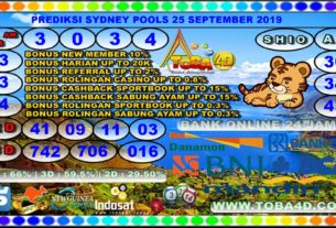 PREDIKSI SYDNEY POOLS 25 SEPTEMBER 2019
