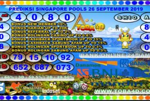 PREDIKSI SINGAPORE POOLS 26 SEPTEMBER 2019