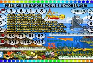 PREDIKSI SINGAPORE POOLS 3 NOVEMBER 2019
