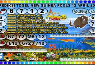 PREDIKSI NEW GUINEA POOLS 12 APRIL 2020