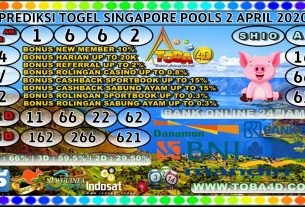 PREDIKSI TOGEL SINGAPORE POOLS 02 APRIL 2020